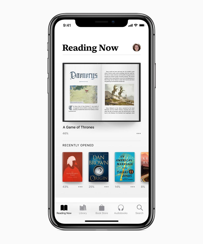 Apple Books no iOS 12
