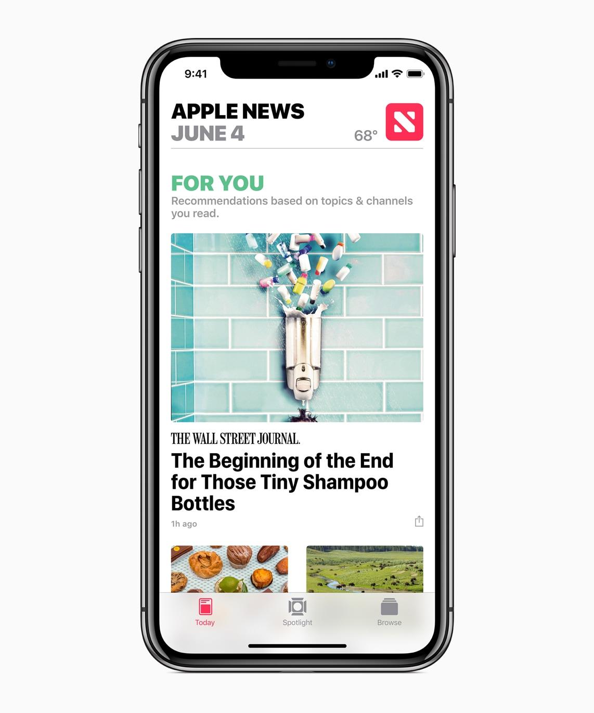App Notícias/News no iOS 12