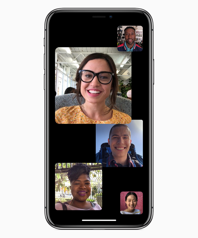 Vídeo-chamada em grupo no FaceTime do iOS 12