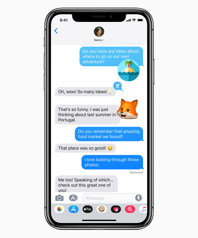 Memoji no Mensagens do iOS 12