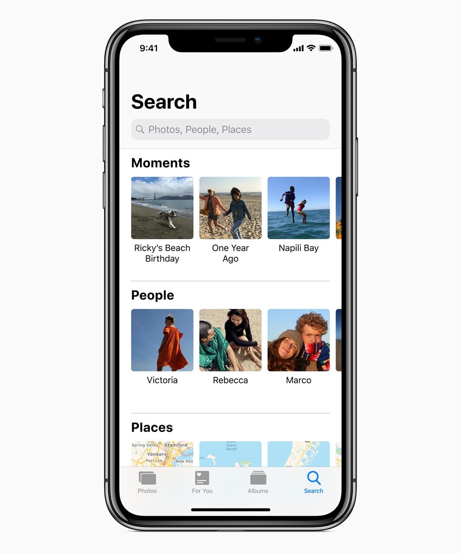 App fotos no iOS 12