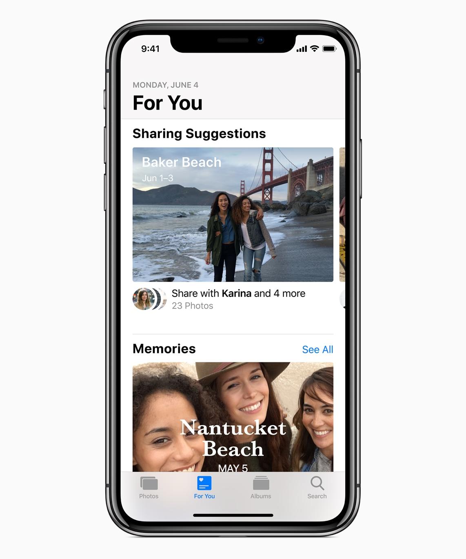Sugestões no Para Você do Fotos do iOS 12