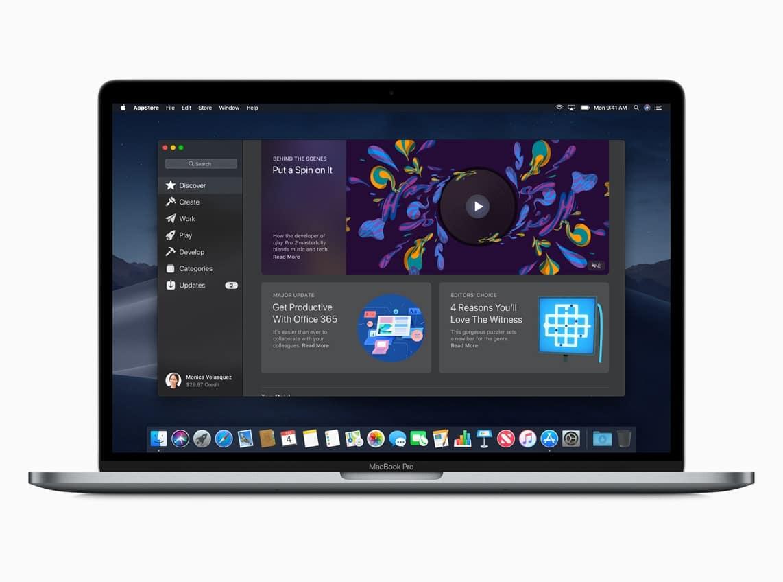Mac App Store no macOS Mojave