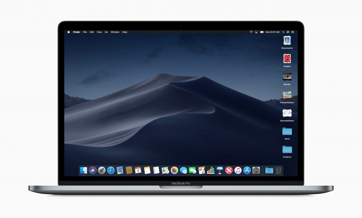 Stacks no Finder do macOS Mojave