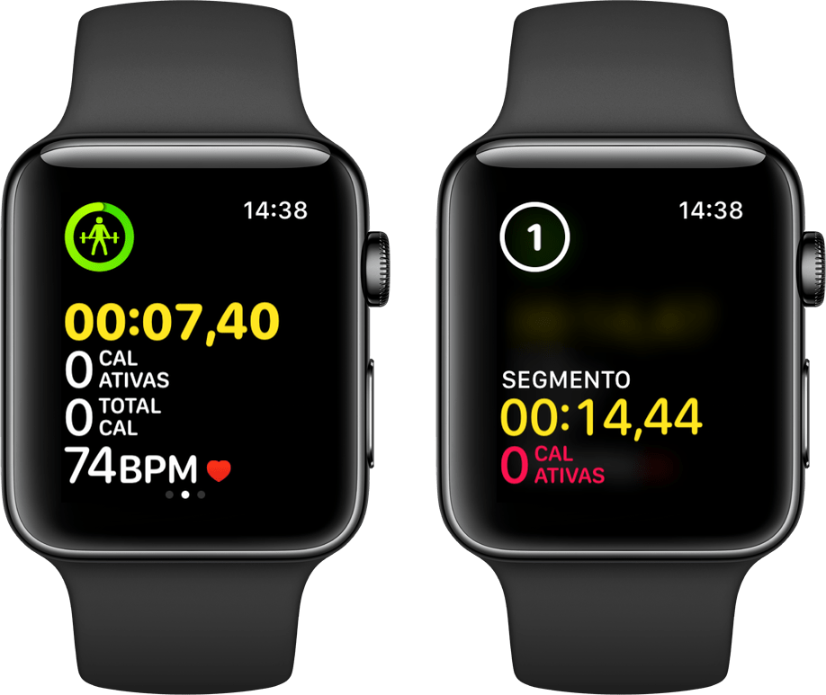 Segmenting an Apple Watch exercise