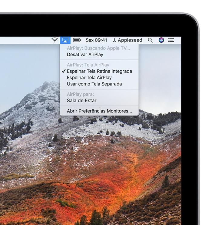 Espelhando a tela do macOS na Apple TV
