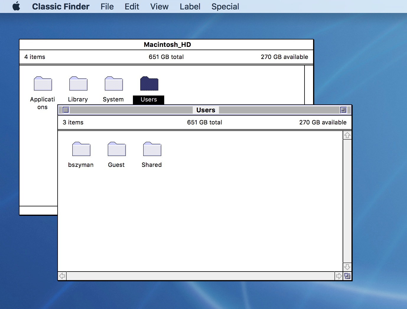 Classic Mac OS Finder