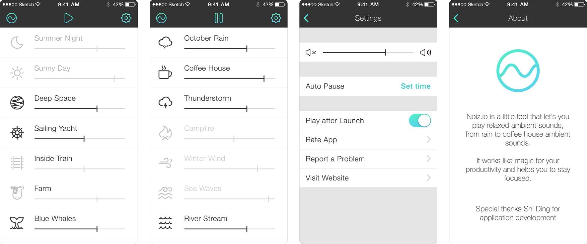 App Noizio para iOS