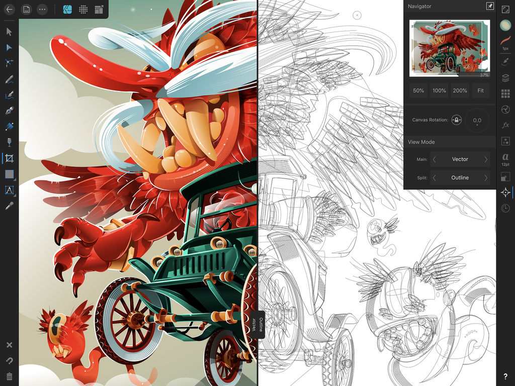 Affinity Designer para iPad