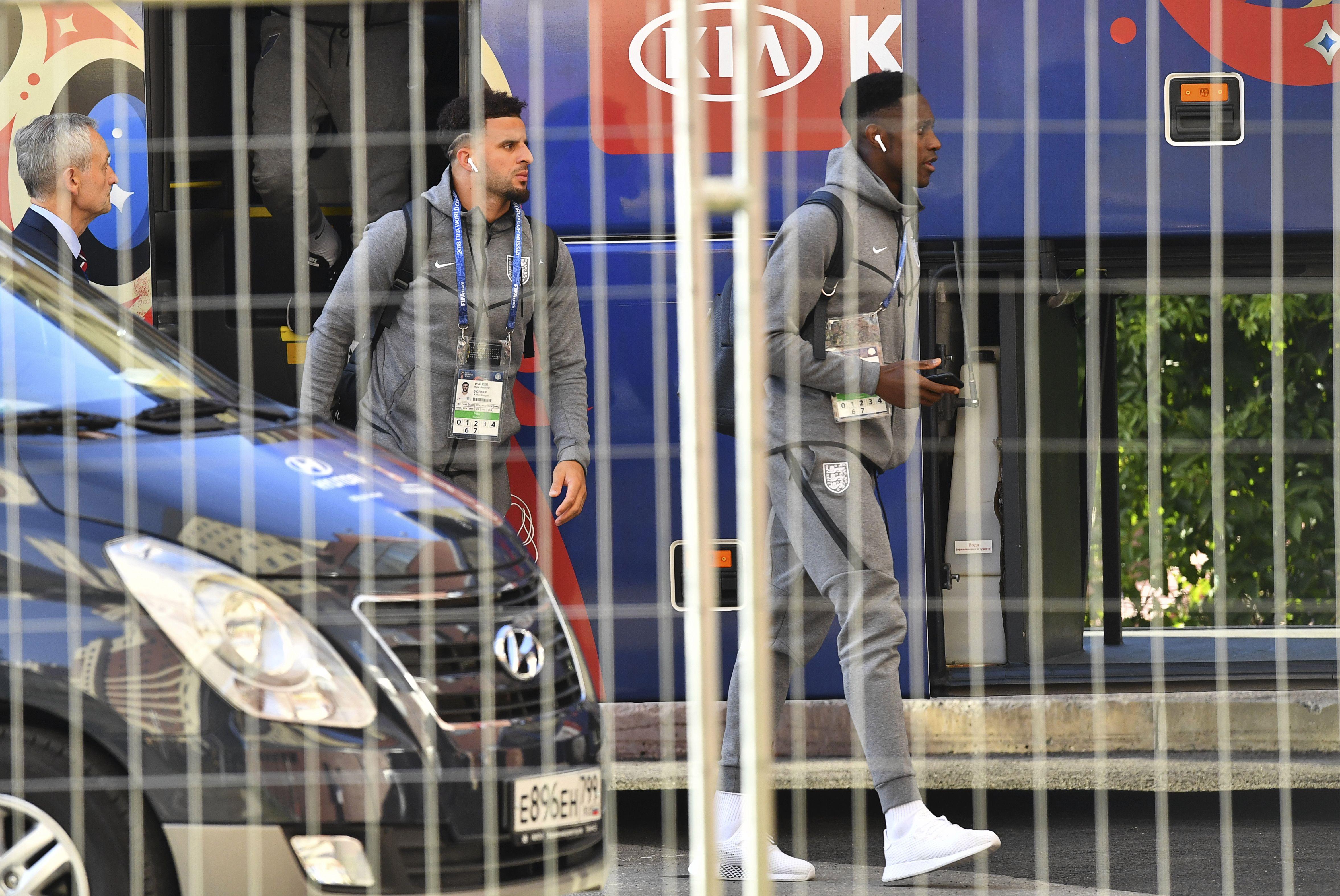 Kyle Walker e Danny Welbeck, da seleção inglesa | Reuters (Dylan Martinez)