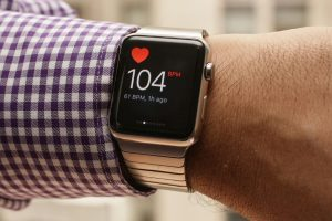 Apple Watch medindo frequência cardíaca