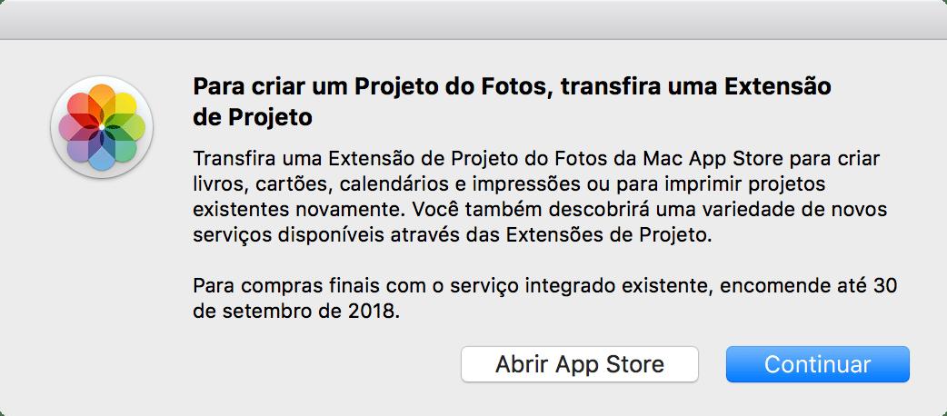 Alerta de descontinuidade do serviço de impressão da Apple