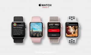 Conceito do Apple Watch Series 4