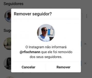 Novo recurso para remover seguidores no Instagram