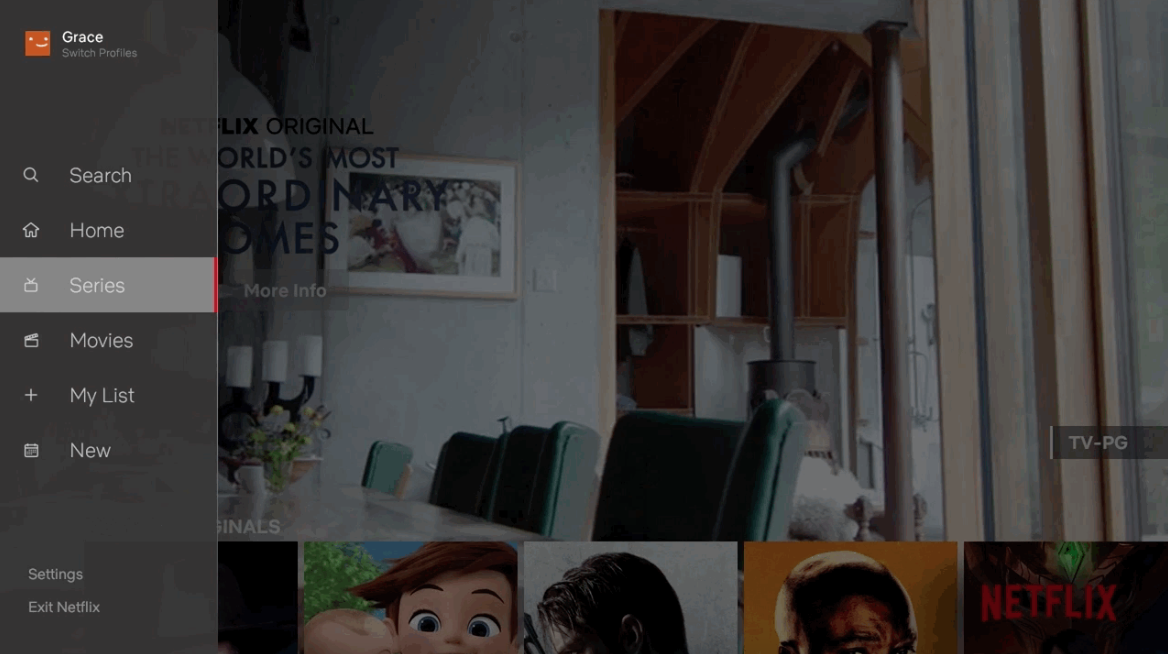 Nova experiência da Netflix em TVs e na Apple TV