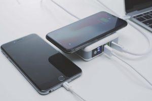 QiPlus, combo de bateria externa, adaptador de energia e carregador sem fio