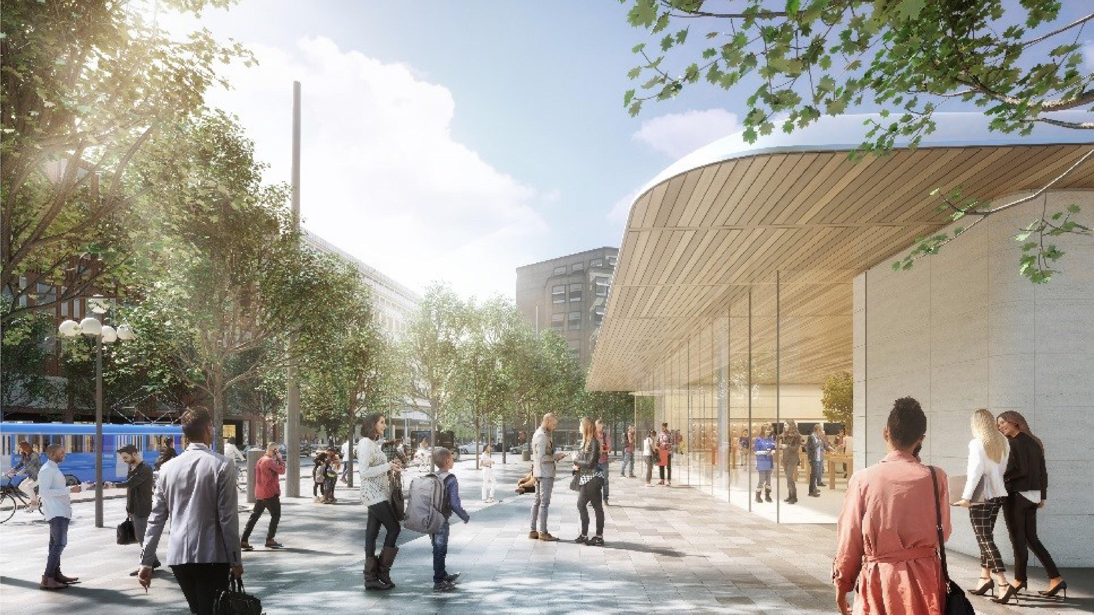 Projeto para loja da Apple em Estocolmo