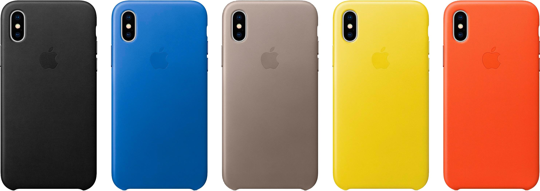 Capas de couro para o iPhone X