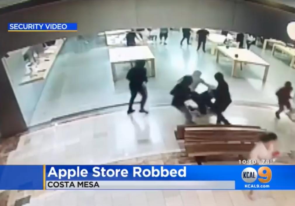Roubo à Apple South Coast Plaza, em Costa Mesa (Califórnia)