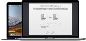 Assistente de Migração no macOS