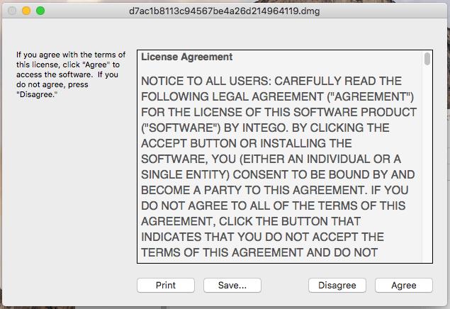 Contrato de licença utilizado pelo Calisto