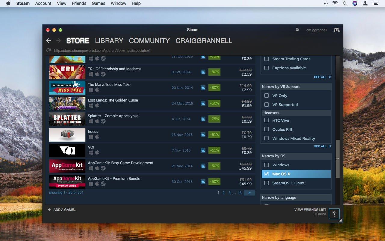 Steam para Mac