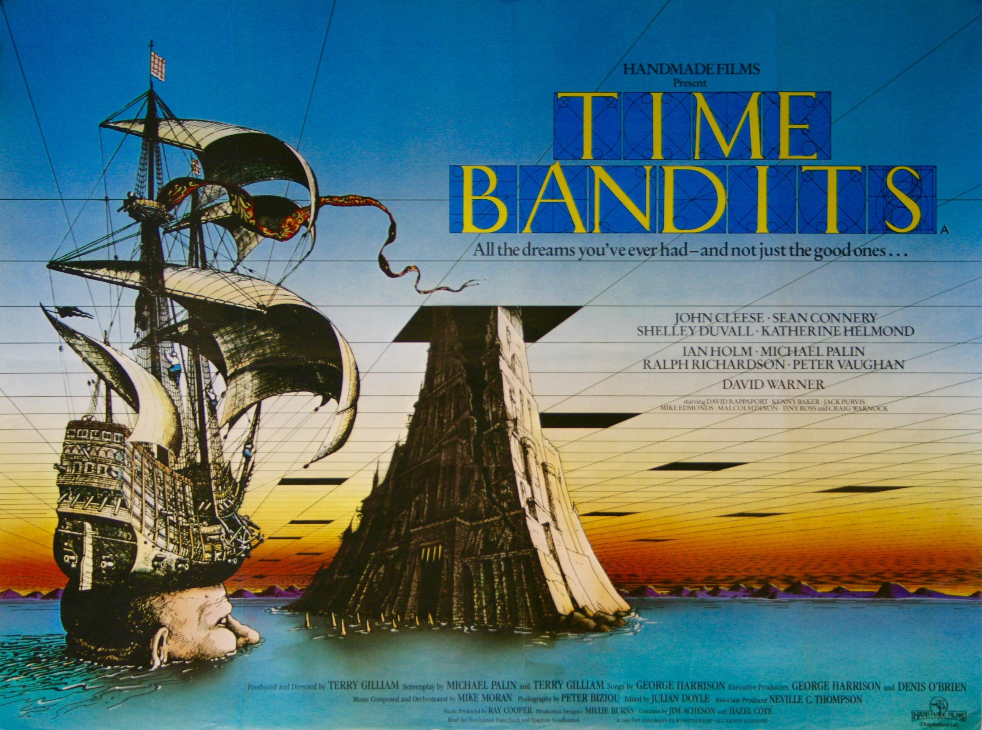 """Pôster do filme """"Bandidos do Tempo"""", de 1981"""