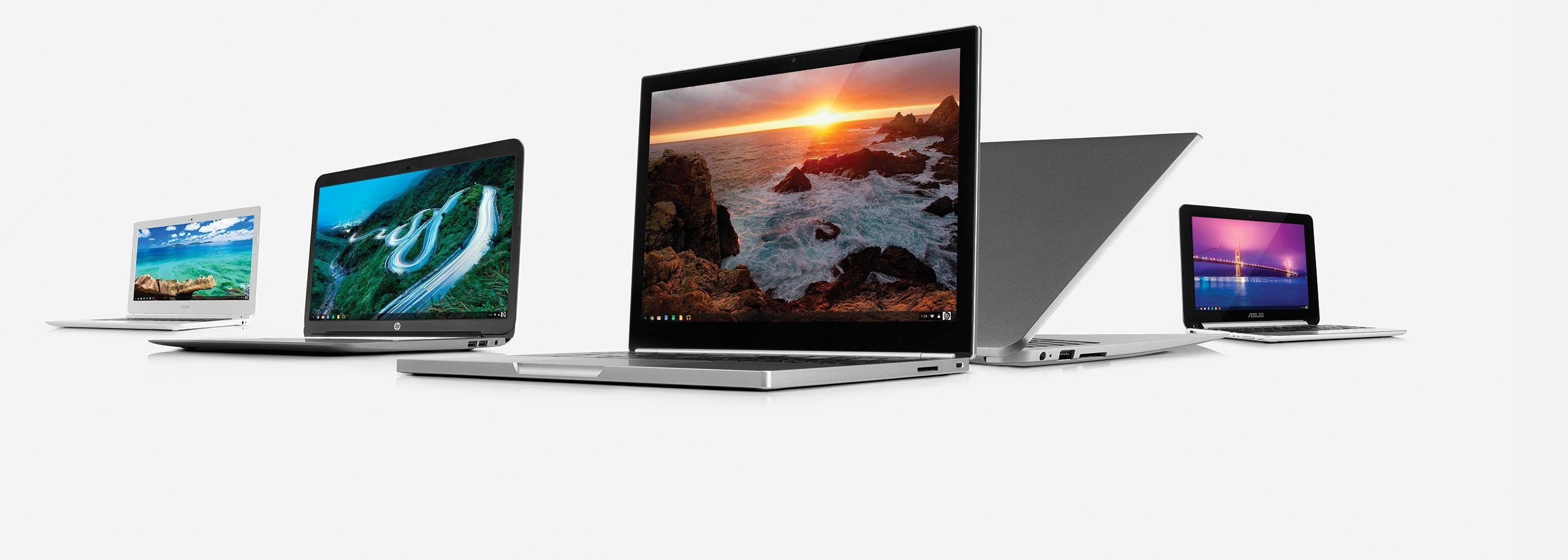 Linha de Chromebooks