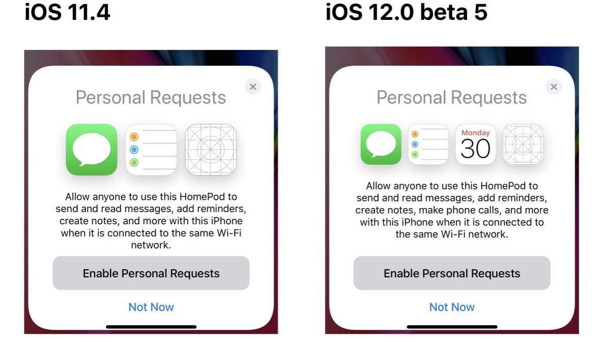 Tela do iOS 12 beta mostrando recurso de ligações pelo HomePod