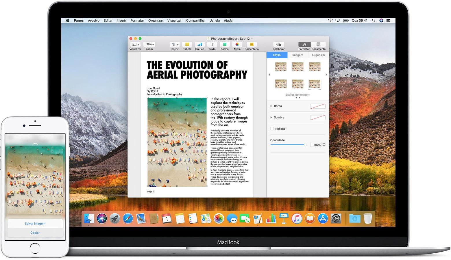 Área de transferência universal no iPhone e no MacBook Pro