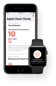 App Apple Heart Study para iPhone e Apple Watch
