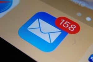 Ícone do Mail com vários não-lidos