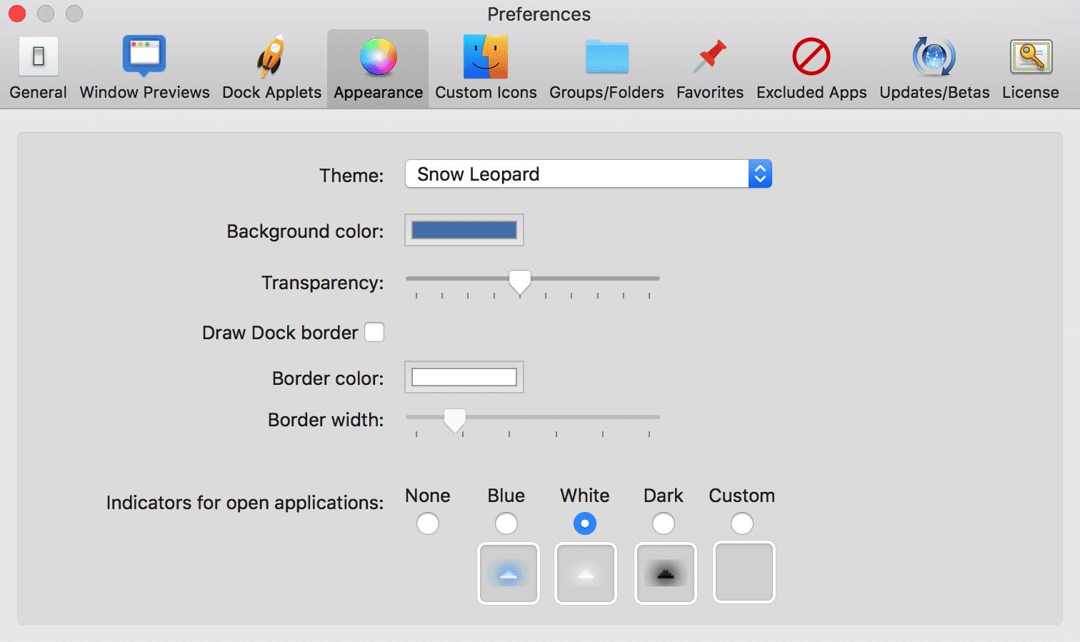 ActiveDock: personalização do Dock