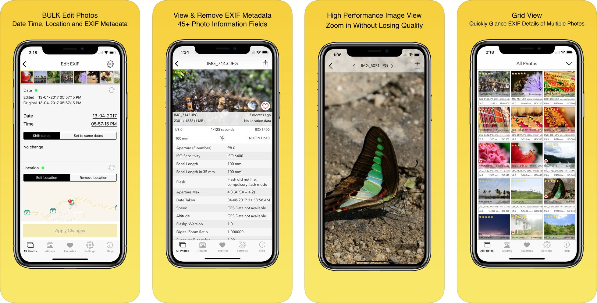 App EXIF Viewer by Fluntro para iOS