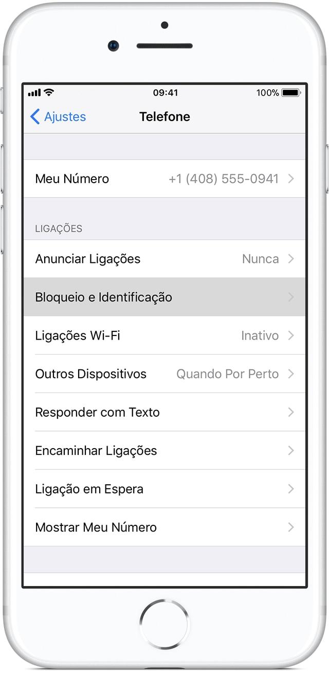 iOS: ajustes bloqueio e identificação