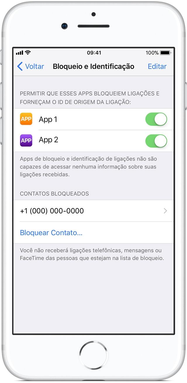 iOS: permitindo que apps bloqueiem ligações
