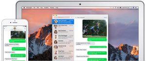 Mensagens no iOS e no macOS