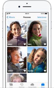 Recurso Pessoas do app Fotos no iOS 11
