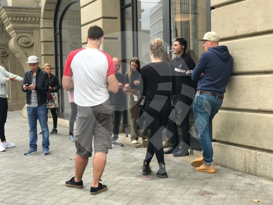 Evacuação da Apple Leidseplein