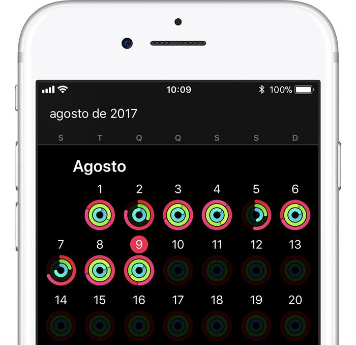 Anéis de atividade no iPhone