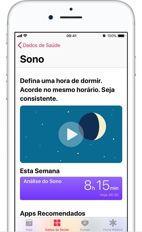 Análise de Sono no iOS 11