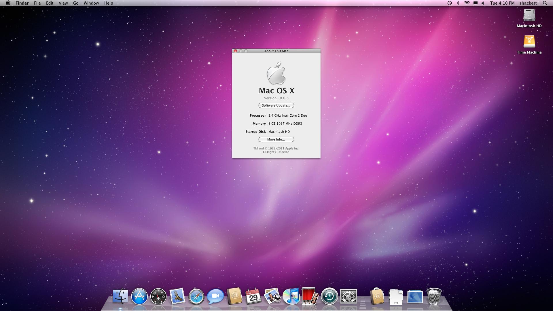 O clássico e elogiado Mac OS X Snow Leopard 10.6