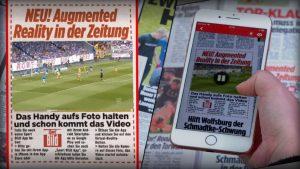 Realidade aumentada no tabloide alemão Biild