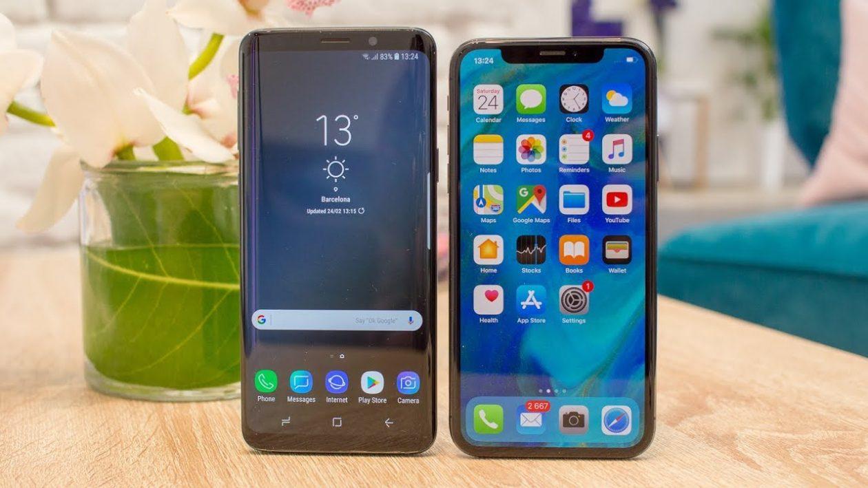 iPhone X e Galaxy S9