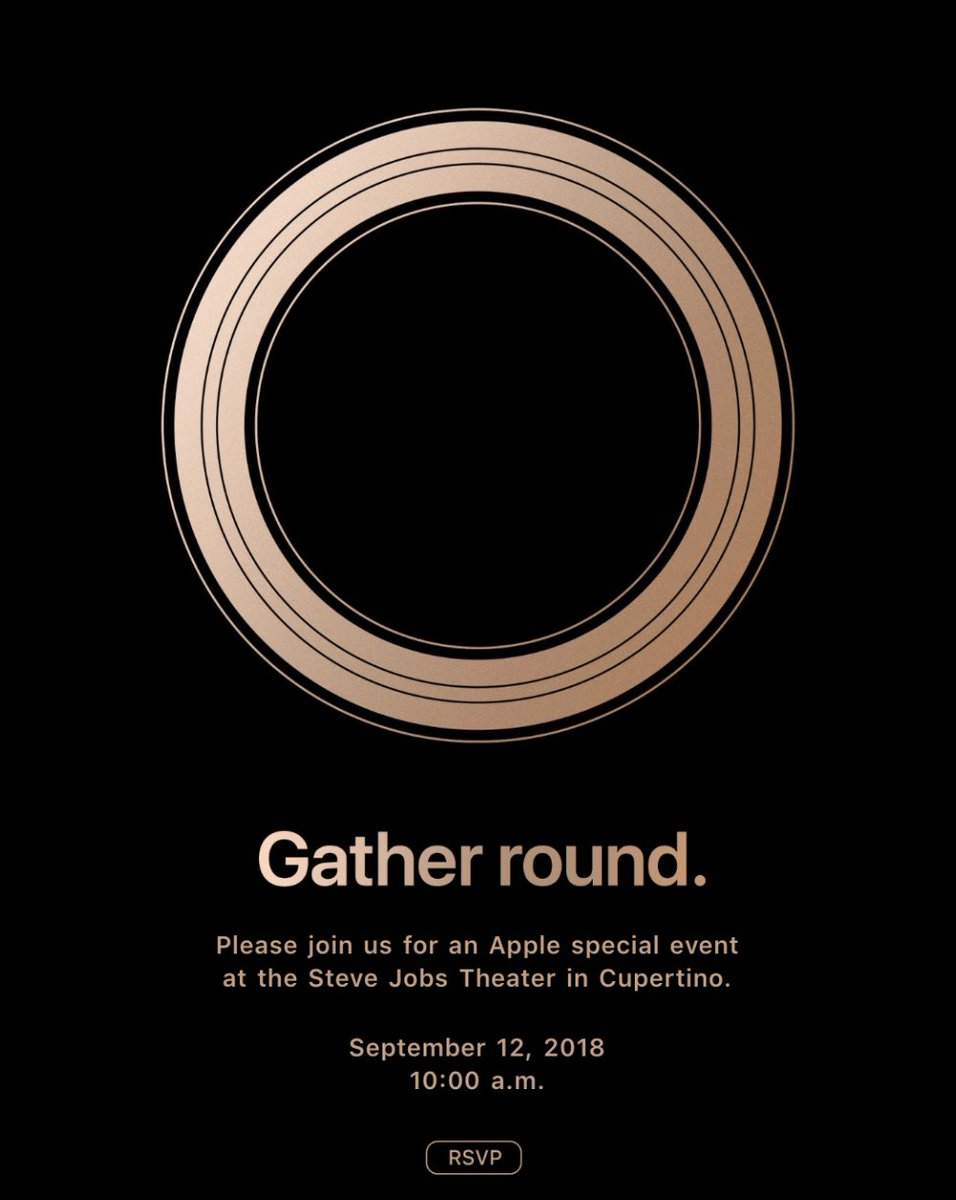 Convite do evento especial da Apple
