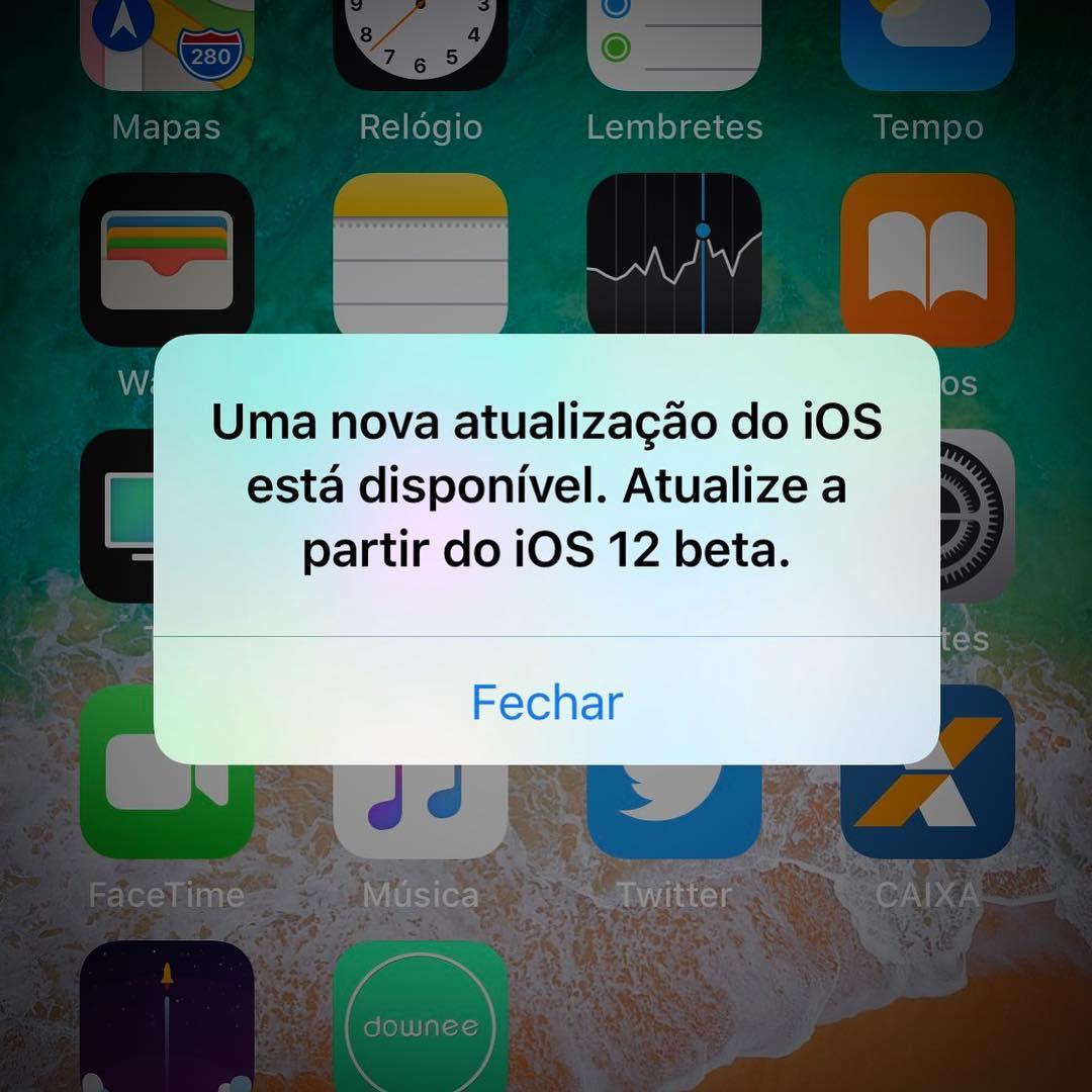 Bug do iOS 12