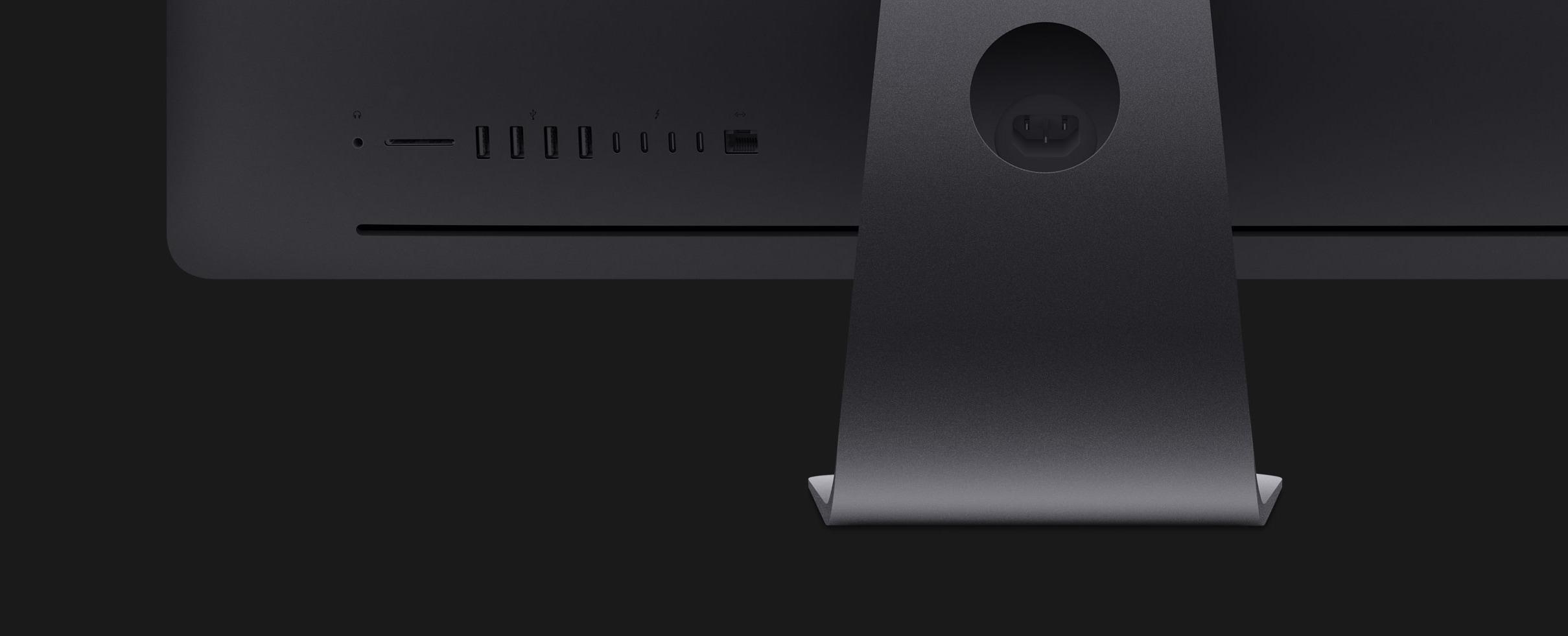 Traseira do iMac Pro