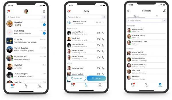 Mudança no design do Skype para iOS