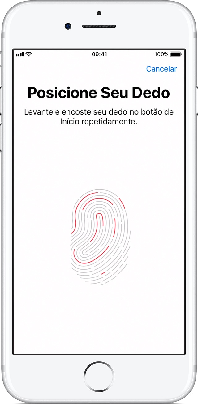 Ajustes do Touch ID no iPhone 7