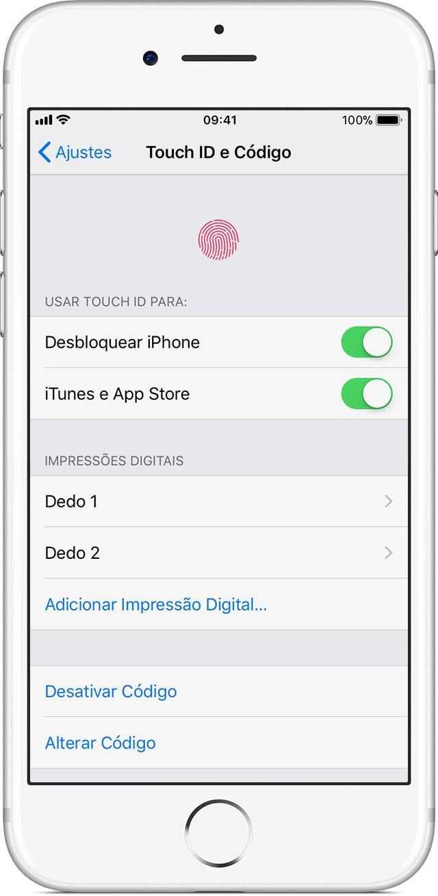 Touch ID e Código no iOS 11